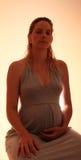 dreaming pregnant woman στοκ εικόνα με δικαίωμα ελεύθερης χρήσης