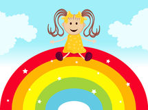 Dreaming on a rainbow Royalty Free Stock Photography