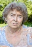 Dreaming sad granny Royalty Free Stock Photography