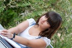 Dreaming schoolgirl Stock Photography