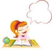 Dreaming schoolgirl Stock Photos