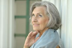 Dreaming senior woman Royalty Free Stock Photos