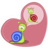 Dreaming Snail Stock Photos