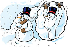 Dreaming Snowman Royalty Free Stock Photography