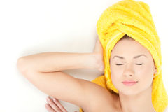 Dreaming in spa Royalty Free Stock Images