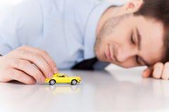 Dreaming of a sport car. stock photos