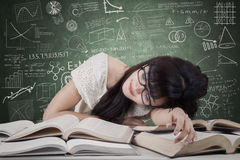 Dreaming student in the class Royalty Free Stock Photos