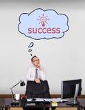 Dreaming at success Royalty Free Stock Image