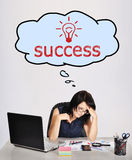 Dreaming on success Stock Image