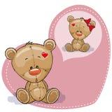 Dreaming Teddy Bear. Greeting card Cute Dreaming Teddy Bear stock illustration