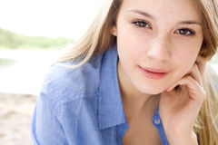 Dreaming teenager Stock Photos