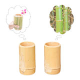 Dreaming of two bamboo cups Royalty Free Stock Photography