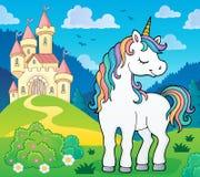 Dreaming unicorn theme image 3. Eps10 vector illustration royalty free illustration