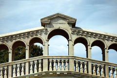 Dreaming Venice. Italy-The rebuild of the Rialto bridge Royalty Free Stock Image