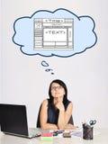 Dreaming at web page Royalty Free Stock Photos