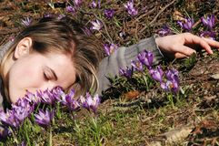Dreaming woman royalty free stock photos