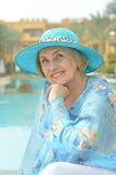 Dreaming woman at the resort Royalty Free Stock Images