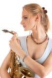 Dreaming young sensual blonde Royalty Free Stock Photos