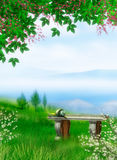 Dreamland. Digital fantasy background for your artistic creations and/or projects Royalty Free Stock Photo