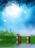 Dreamland. Fantasy background for your artistic creations and/or projects vector illustration