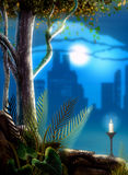 Dreamland. Creative background for your artistic creations and/or projects Stock Images