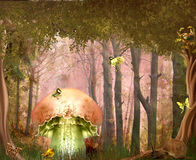 Dreamland. Fantasy background for your artistic creations Stock Photos