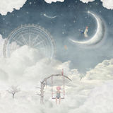 Dreamland. In the night Illustration Stock Photography