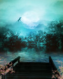 Dreamland. Fantasy background for your artistic creations and/or projects Stock Image