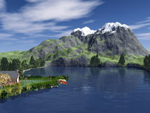 Dreamland. This image shows a 3d generated landscape Royalty Free Stock Photo