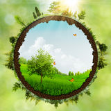 Dreamland. Abstract environmental backgrounds for your design royalty free illustration