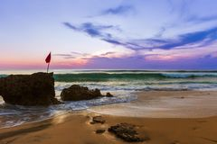Dreamland Beach in Bali Indonesia royalty free stock photography