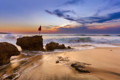 Dreamland Beach in Bali Indonesia Stock Photos