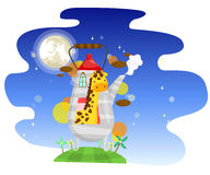 Dreamland Giraffe Royalty Free Stock Images