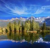 Dreamlike beauty lake and park Stock Image