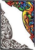 Dreamlike bird. Decor with dream bird. Color and monochrome, vector illustrations Stock Photography
