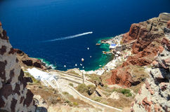 Dreamlike trip to the island of Santorini Royalty Free Stock Photos