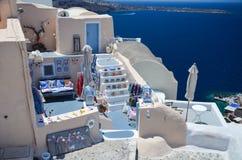 Dreamlikereis aan het Eiland Santorini Royalty-vrije Stock Afbeelding