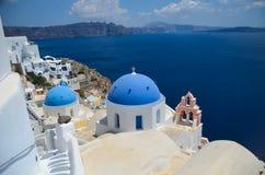 Dreamlikereis aan het Eiland Santorini Royalty-vrije Stock Afbeeldingen
