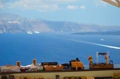 Dreamlikereis aan het Eiland Santorini Stock Foto