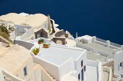 Dreamlikereis aan het Eiland Santorini Royalty-vrije Stock Foto