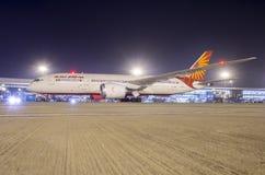 Dreamliner-воздух Индия Боинга 787 Стоковое Изображение RF