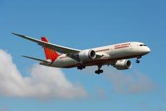 印度航空波音787 Dreamliner 库存图片