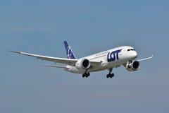 Dreamliner 787 Fotografie Stock Libere da Diritti
