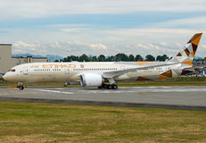 Dreamliner de Etihad Airways Boeing 787-9 fotos de archivo libres de regalías