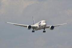 Dreamliner plane view Royalty Free Stock Image