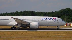 Dreamliner taxiing po lądować zbiory
