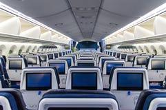 Dreamliner wnętrze zdjęcie stock