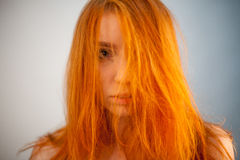 Dreammy portrait of beautiful redhead woman in soft focus Royalty Free Stock Photos