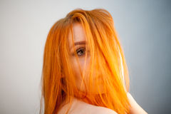 Dreammy portrait of redhead girl in soft focus Stock Photography