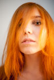 Dreammy portrait of redhead in soft focus Stock Photography